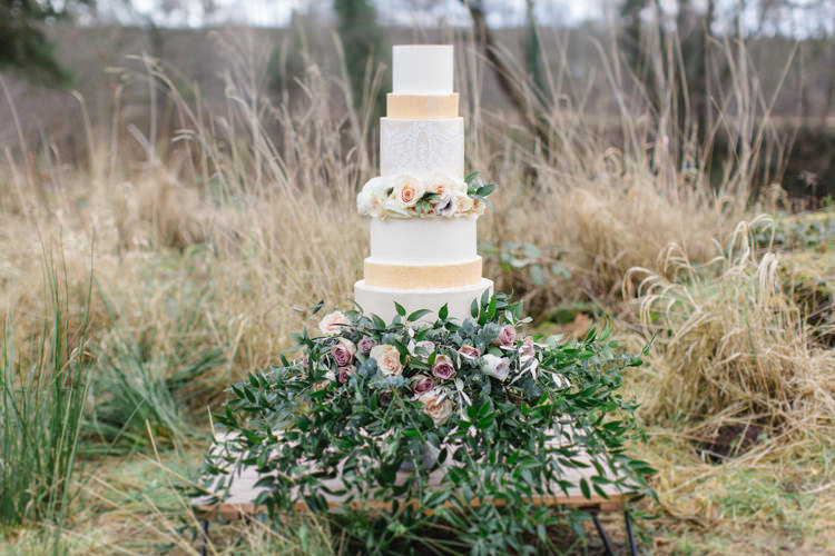 Cake Flowers Organic Natural Wild Botanical Beauty Abandoned Greenhouse Wedding Ideas https://www.thegibsonsphotography.co.uk/