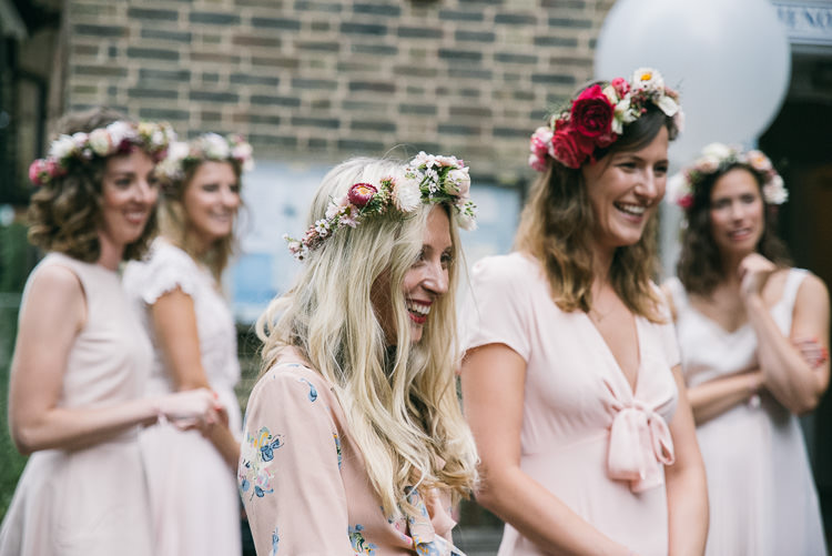Bridesmaids Flower Crowns Creative Cool Bohemian Harbourside Wedding http://carohutchings.com/