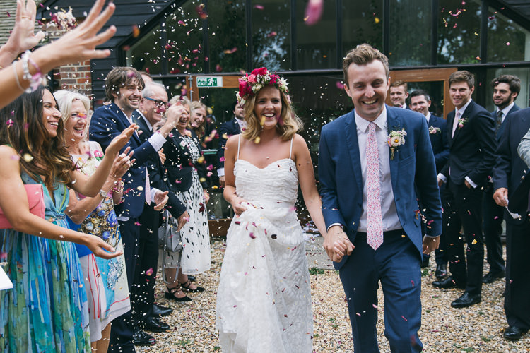 Confetti Throw Bride Groom Creative Cool Bohemian Harbourside Wedding http://carohutchings.com/