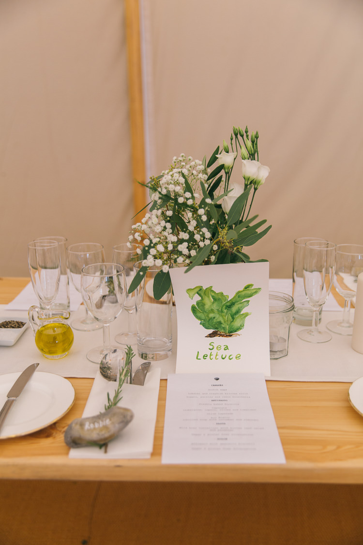 Table Names Watercolour Illustration Creative Cool Bohemian Harbourside Wedding http://carohutchings.com/