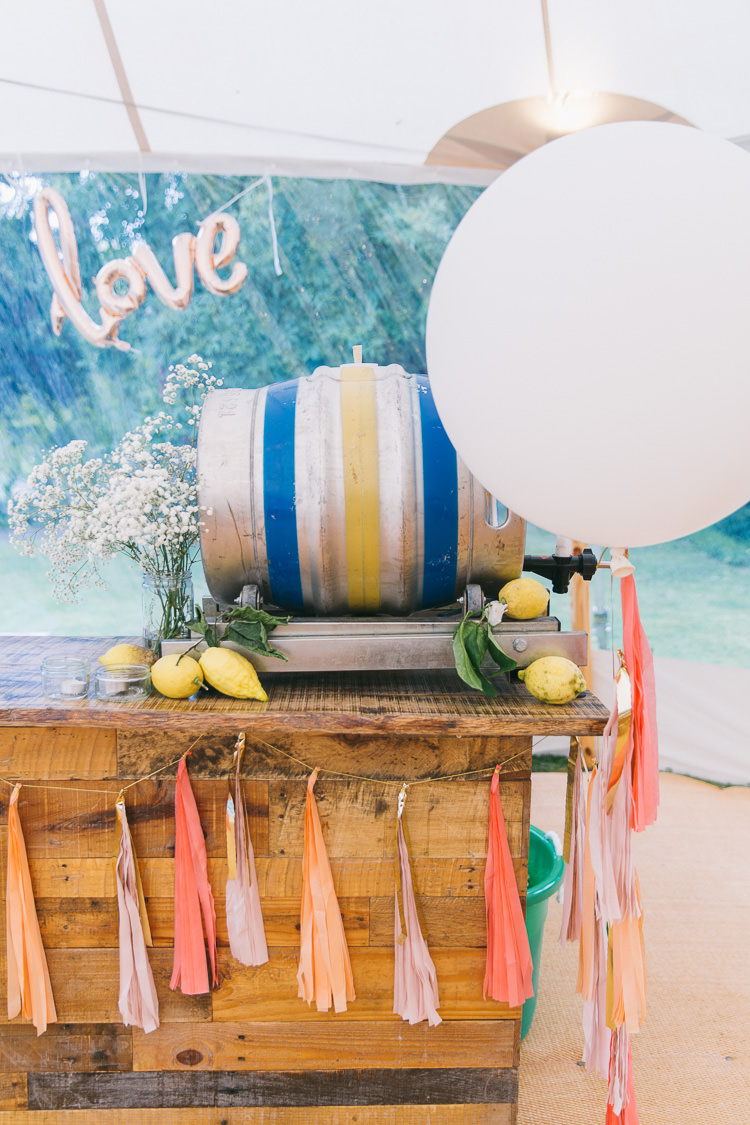 Rustic Wooden Bar Tassels Balloons Creative Cool Bohemian Harbourside Wedding http://carohutchings.com/