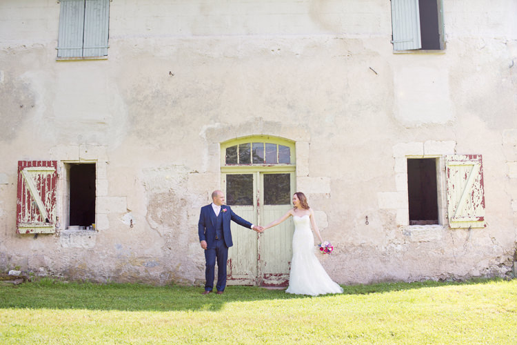 Bride Bridal Maggie Sottero Ascher Gown Dress Alexandre Groom Three Piece Colour Pop Summer French Chateau Wedding http://www.cottoncandyweddings.co.uk/