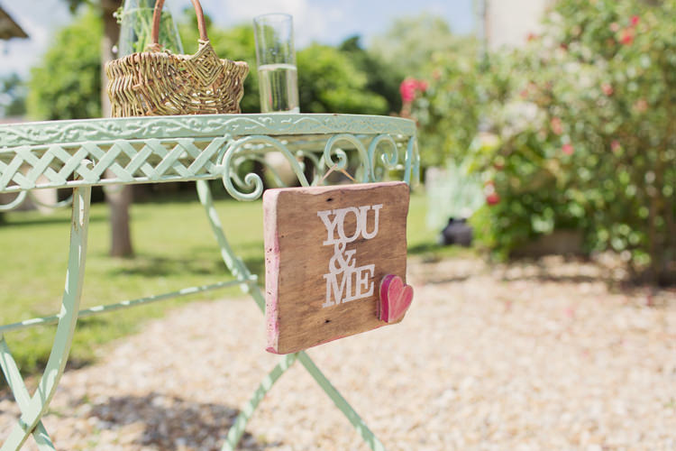 Sign Wood Colour Pop Summer French Chateau Wedding http://www.cottoncandyweddings.co.uk/