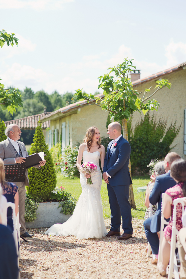 Bride Bridal Maggie Sottero Ascher Gown Dress Alexandre Groom Colour Pop Summer French Chateau Wedding http://www.cottoncandyweddings.co.uk/