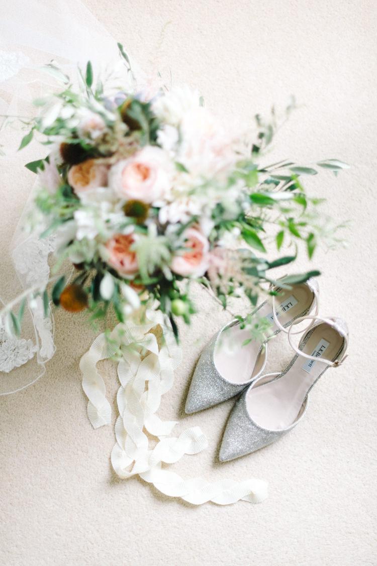 Silver Glitter Shoes Heels Bride Bridal Opulent Metallics City Library Wedding http://www.croandkowlove.com/