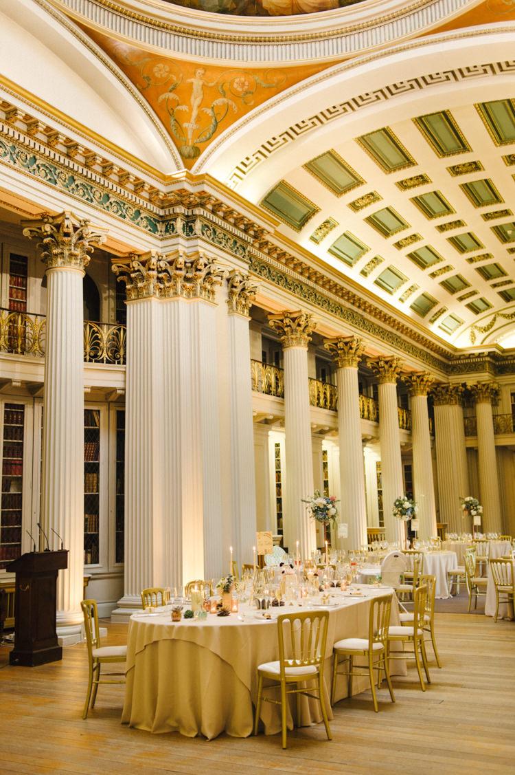 Signet Library Edinburgh Opulent Metallics City Library Wedding http://www.croandkowlove.com/