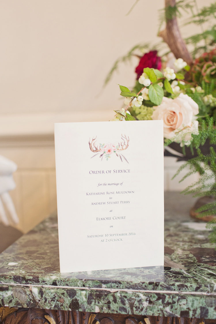 Stationery Antler Feather Stunning Countryside Wedding http://www.cottoncandyweddings.co.uk/