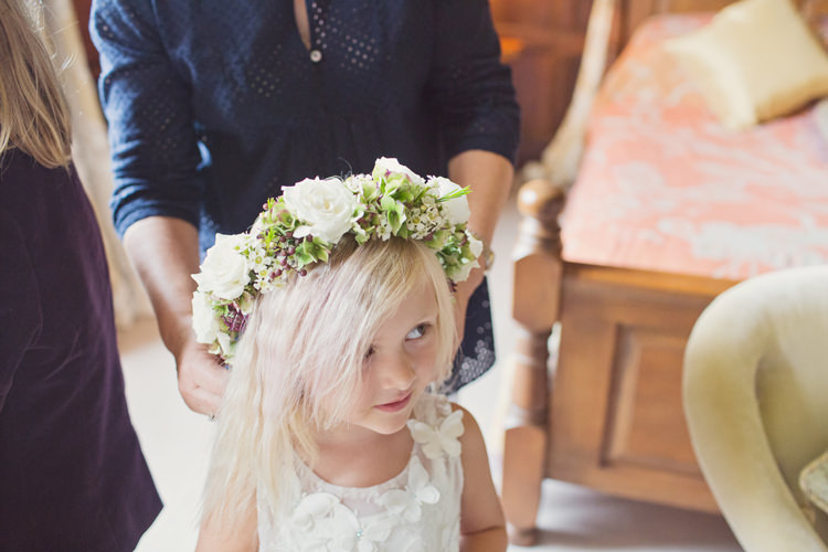 Flower Girl Crown Headdress Antler Feather Stunning Countryside Wedding http://www.cottoncandyweddings.co.uk/