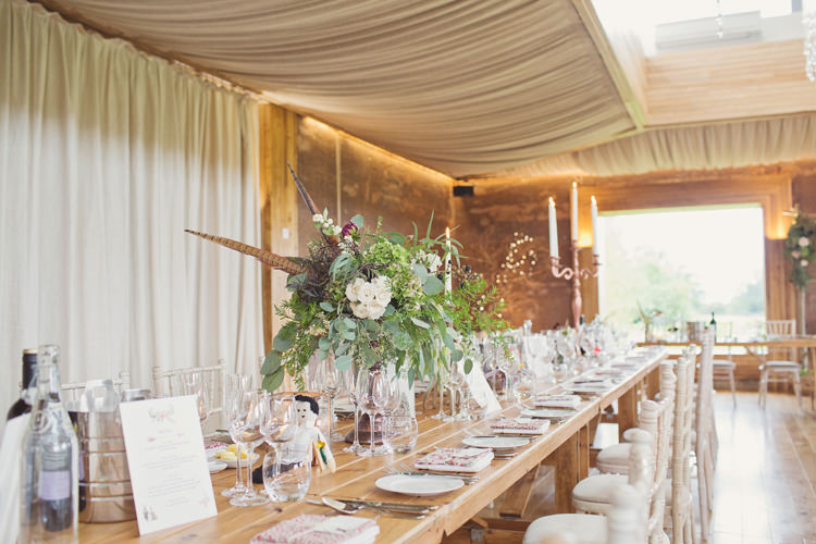 Antler Feather Stunning Countryside Wedding http://www.cottoncandyweddings.co.uk/