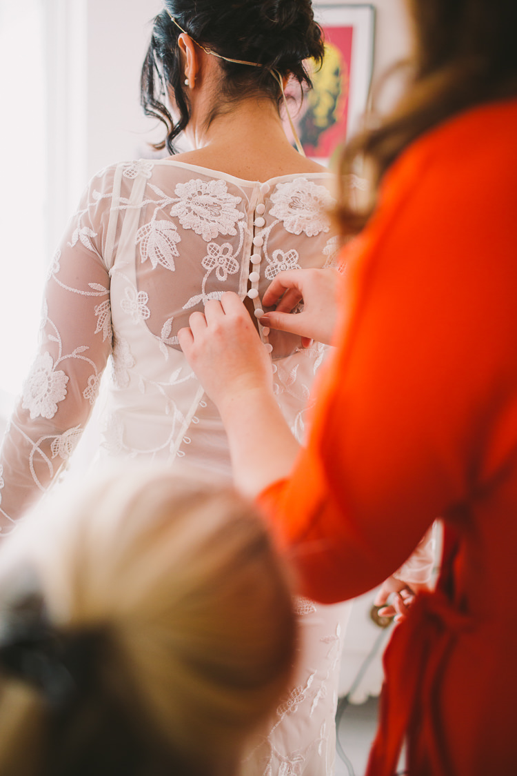 Lace Button Back Dress Gown Bride Bridal Fun-Loving Low Key Pub Wedding https://www.oliviajudah.co.uk/