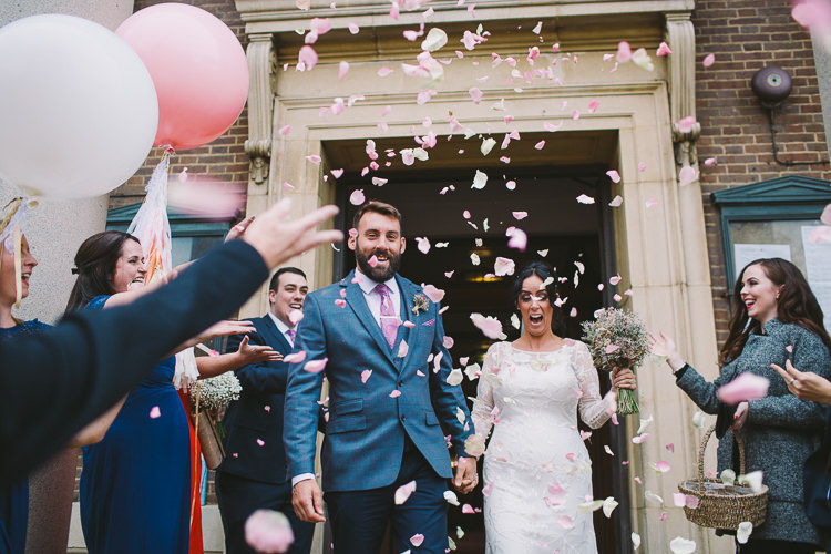 Confetti Throw Petals Fun-Loving Low Key Pub Wedding https://www.oliviajudah.co.uk/