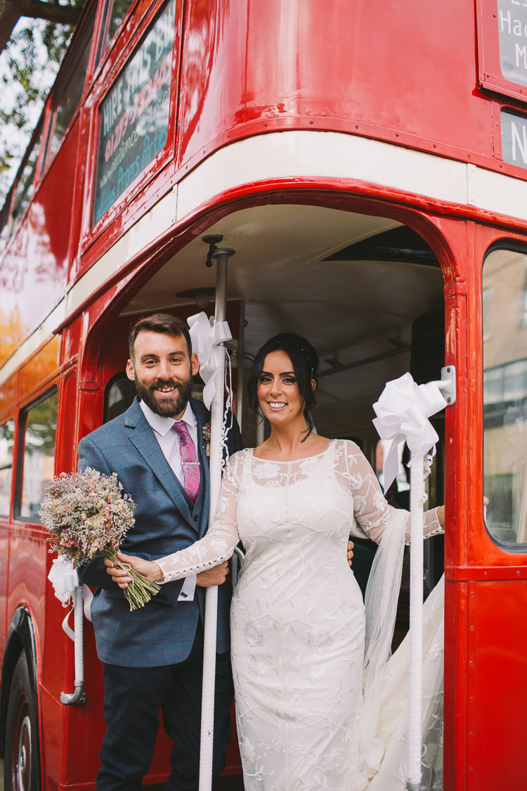London Bus Transport Fun-Loving Low Key Pub Wedding https://www.oliviajudah.co.uk/
