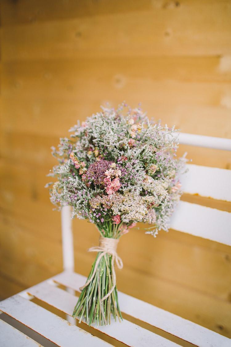 Dried Flowers Bouquet Bride Bridal Twine Fun-Loving Low Key Pub Wedding https://www.oliviajudah.co.uk/