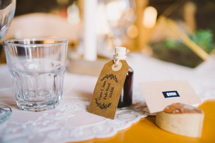 Drink Mini Bottle Favours Fun-Loving Low Key Pub Wedding https://www.oliviajudah.co.uk/