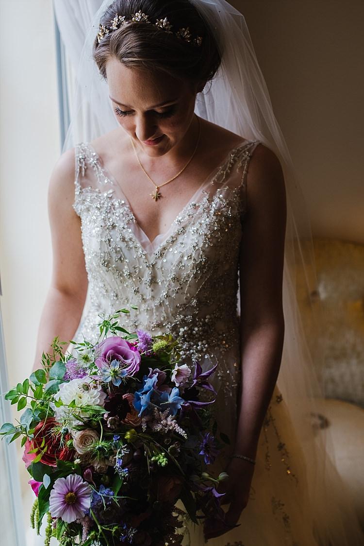 Bouquet Flowers Bride Bridal Colourful Sparkle Old Hollywood Glamour Wedding https://www.jonnybarratt.com/