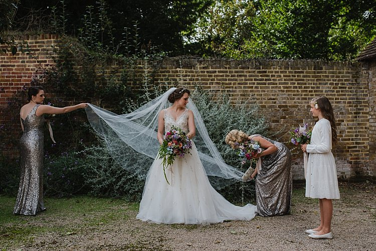 Veil Bride Bridal Sparkle Old Hollywood Glamour Wedding https://www.jonnybarratt.com/