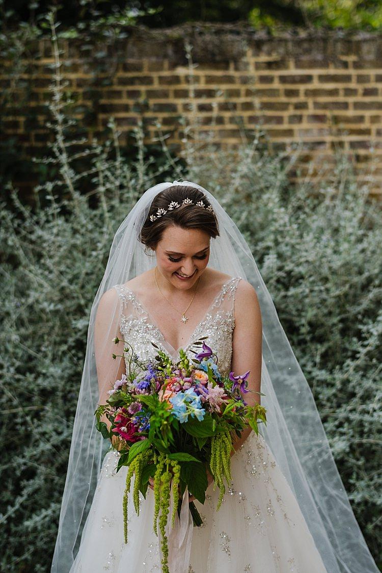 Bouquet Flowers Bride Bridal Colourful Cascading Sparkle Old Hollywood Glamour Wedding https://www.jonnybarratt.com/