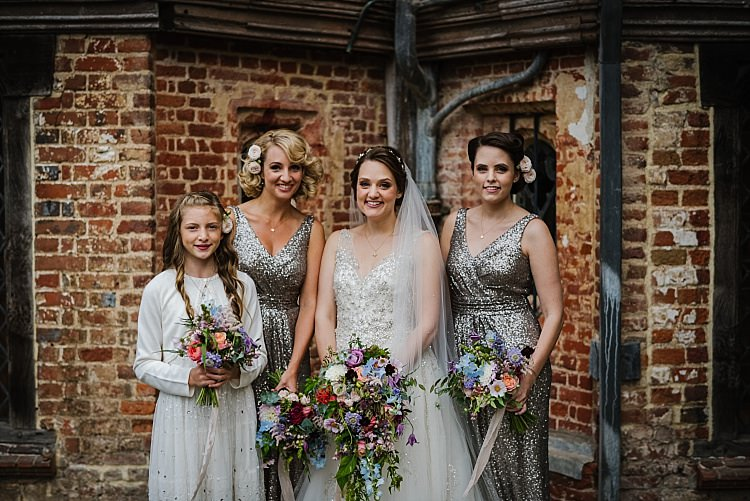 Silver Sequin Bridesmaid Dresses Sparkle Old Hollywood Glamour Wedding https://www.jonnybarratt.com/