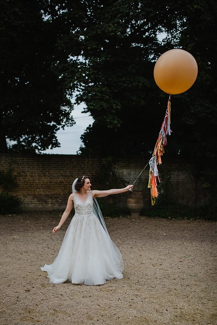Embellished Dress Gown Bride Bridal Sottero and Midgley Balloon Tassel Sparkle Old Hollywood Glamour Wedding https://www.jonnybarratt.com/