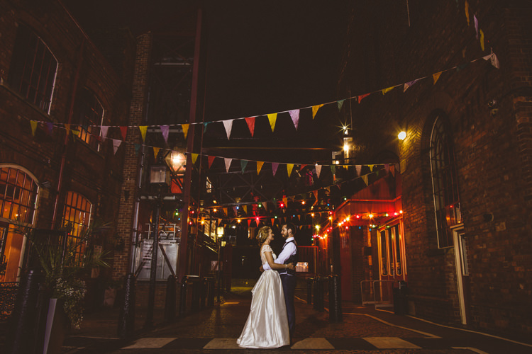 Bride Bridal Tara Keeley A Line Sleeves Dress Beaded Belt Lace Groom Bunting Industrial Cool Museum Wedding https://photography34.co.uk/