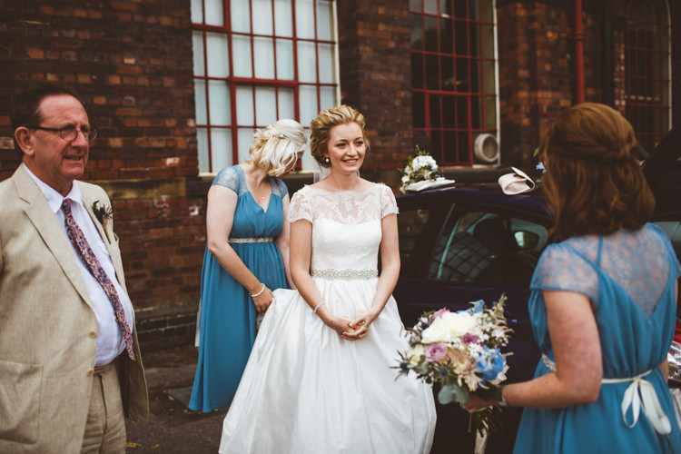 Tara Keeley Bride Bridal Dress Pockets Blue ASOS Bridesmaids Industrial Cool Museum Wedding https://photography34.co.uk/