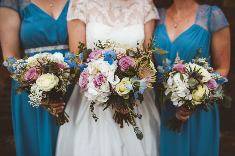 Pastel Bouquets Rose Gypsophila Greenery Thistle Industrial Cool Museum Wedding https://photography34.co.uk/