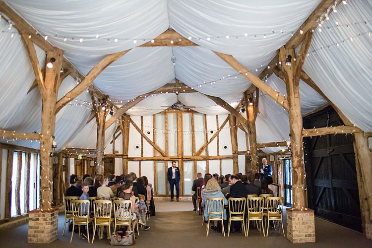 South Farm Barn Fairy Lights Fun Spring Floral Creative Wedding https://www.binkynixon.com/