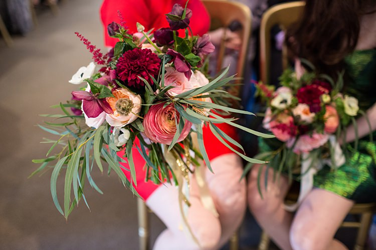Bridesmaid Bouquet Red Pink Flowers Fun Spring Floral Creative Wedding https://www.binkynixon.com/