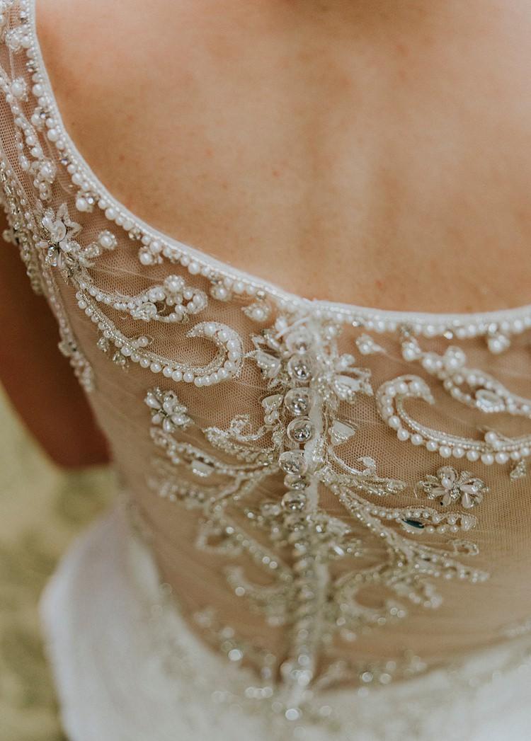 Bride Bridal Beading Dress Gown Embroidered Modern Spring Botanic Garden Wedding Texas http://velvetsagephotography.com/