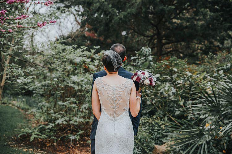 Bride Bridal Back Detail Beading Dress Gown Modern Spring Botanic Garden Wedding Texas http://velvetsagephotography.com/
