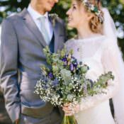 Pretty & Picturesque Outdoor Castle Wedding
