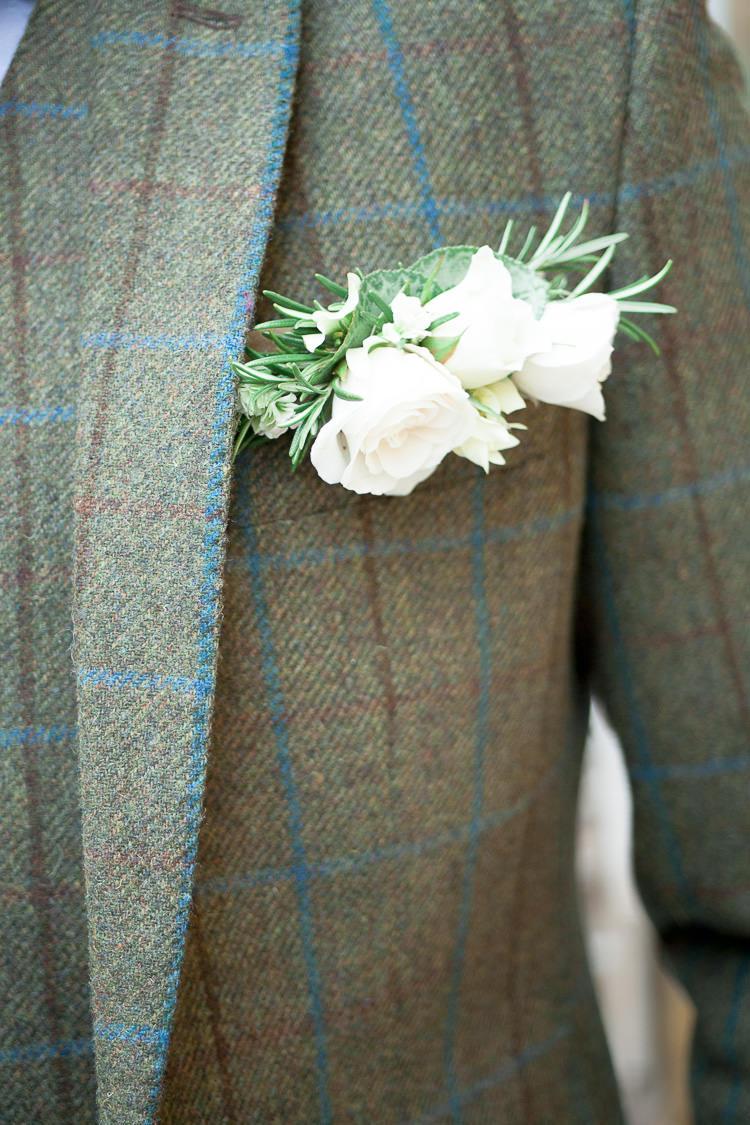 Rose Rosemary Buttonhole Groom Flowers Ethereal Soft Fine Art Wedding Ideas http://lizbakerphotography.co.uk/