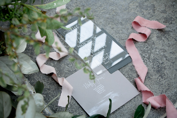 Perspex Stationery Invitations Ethereal Soft Fine Art Wedding Ideas http://lizbakerphotography.co.uk/