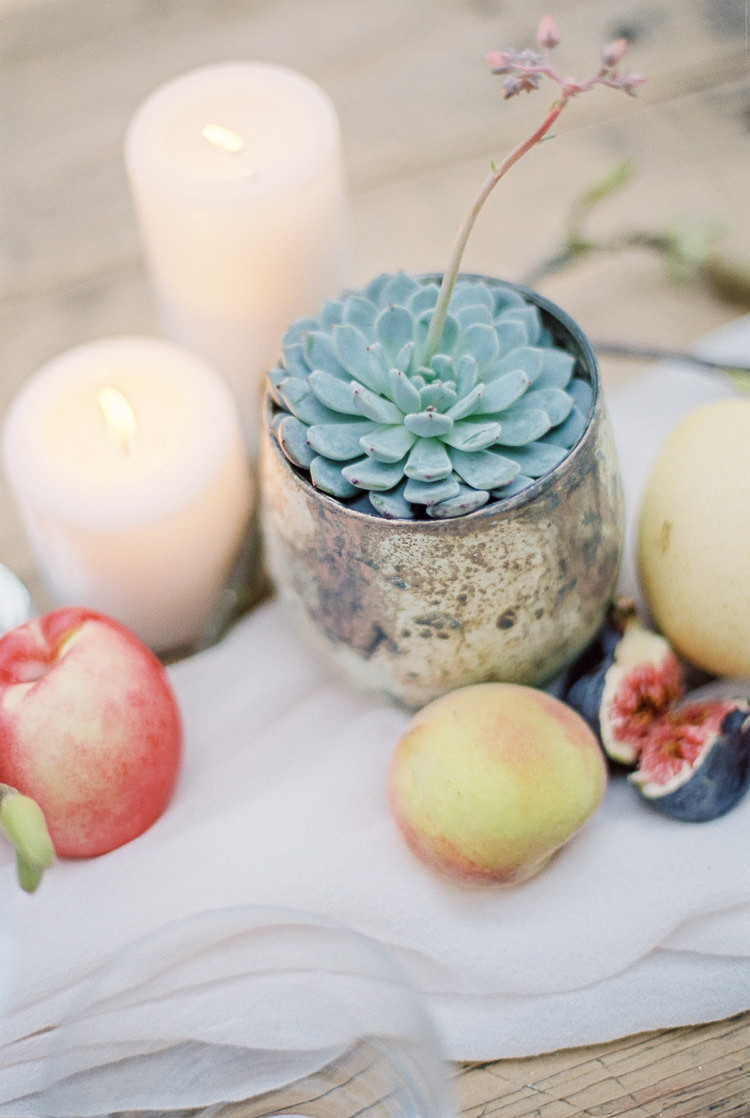 Succulent Candles Ethereal Soft Fine Art Wedding Ideas http://lizbakerphotography.co.uk/