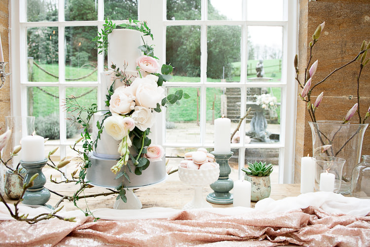 Cake Table Flowers Silk Candles Ethereal Soft Fine Art Wedding Ideas http://lizbakerphotography.co.uk/
