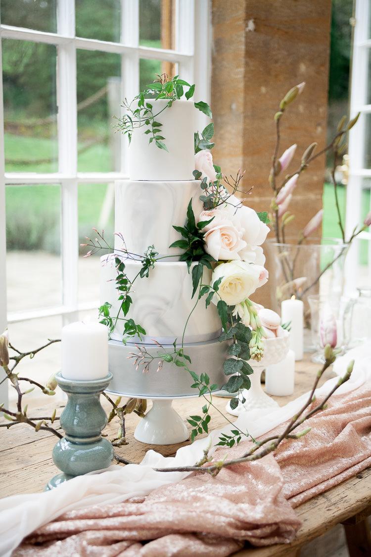 Marble Cake Grey Flowers Ethereal Soft Fine Art Wedding Ideas http://lizbakerphotography.co.uk/