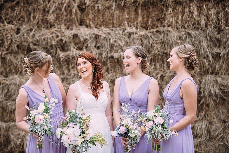 Bridesmaids Beautiful Lilac Garden Wedding New Zealand http://www.levienphotography.com/