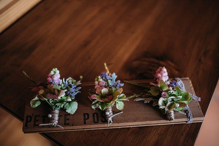 Buttonholes Twine Flowers Beautiful Lilac Garden Wedding New Zealand http://www.levienphotography.com/