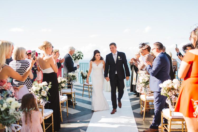 Bride Bridal Gown Dress Pronovias Strapless Fishtail Bespoke Groom Elegant Stylish Sorrento Destination Wedding http://www.francessales.co.uk/