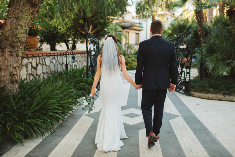 Bride Bridal Pronovias Gown Dress Veil Bespoke Groom Strapless Fishtail Elegant Stylish Sorrento Destination Wedding http://www.francessales.co.uk/