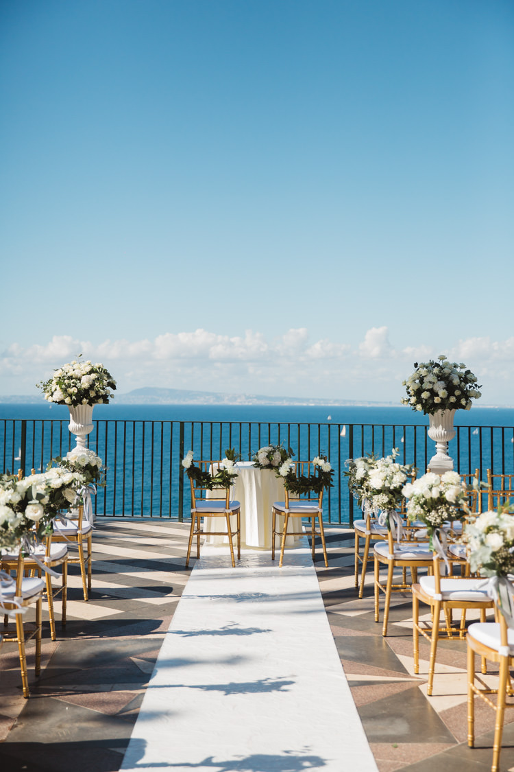 Aisle Decor Flowers Floral Pedestals Elegant Stylish Sorrento Destination Wedding http://www.francessales.co.uk/