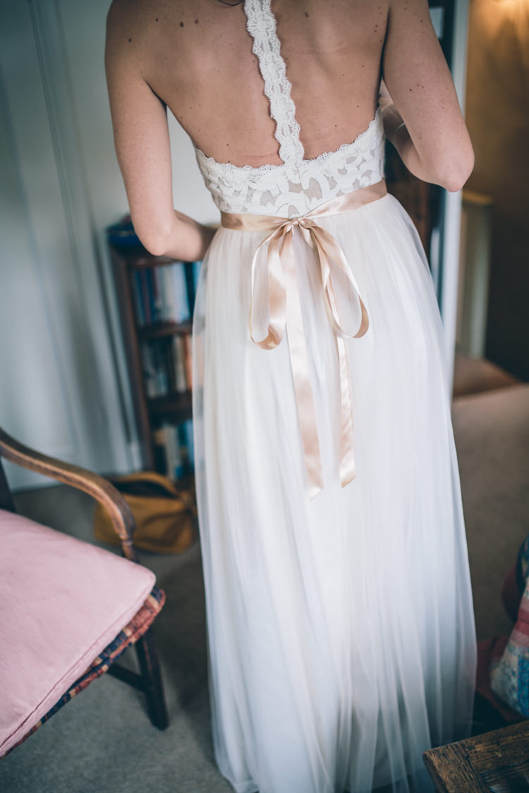 Grace Loves Lace Dress Gown Bride Bridal Tulle Sash Open Back Wildflower Village Green Handfasting Wedding http://www.naomijanephotography.com/