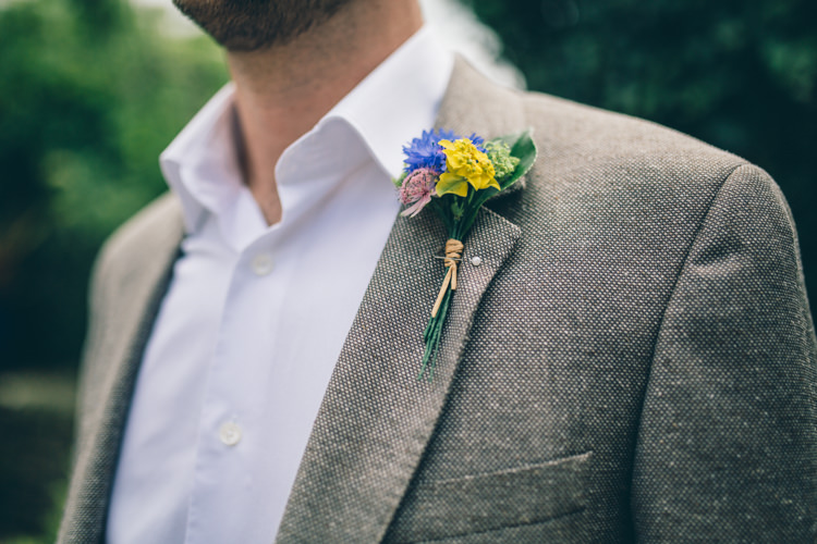 Buttonhole Groom Wildflower Village Green Handfasting Wedding http://www.naomijanephotography.com/