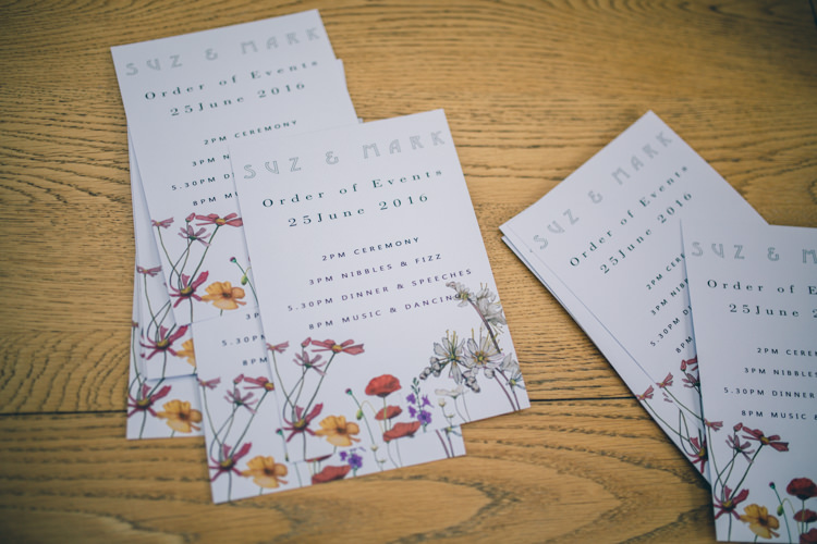 Stationery Illustrated Floral Wildflower Village Green Handfasting Wedding http://www.naomijanephotography.com/