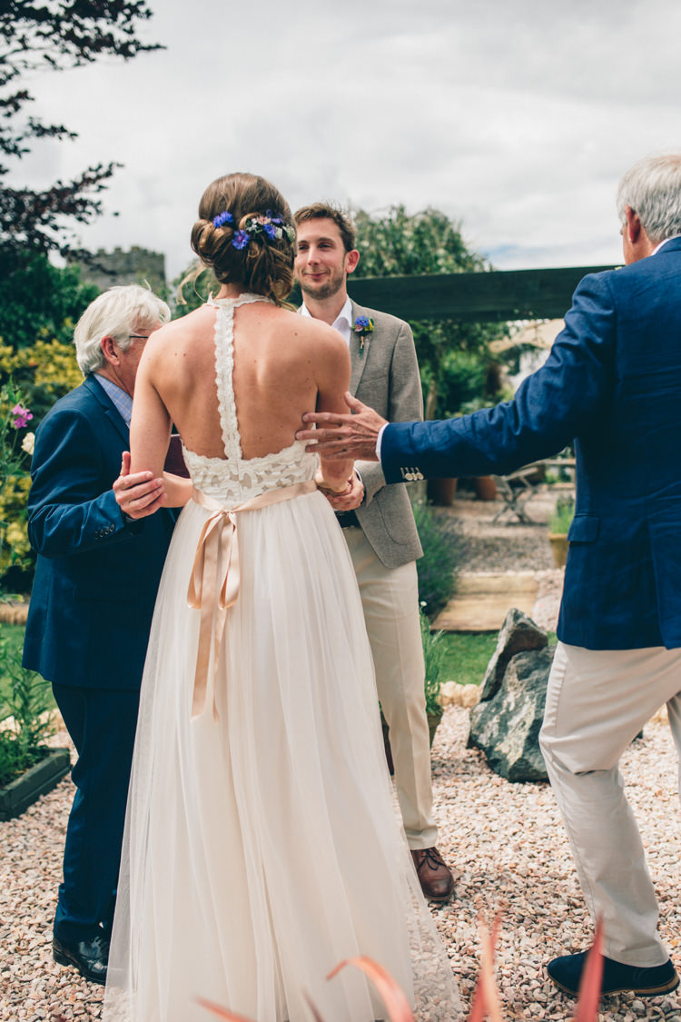 Grace Loves Lace Dress Gown Bride Bridal Tulle Sash Wildflower Village Green Handfasting Wedding http://www.naomijanephotography.com/