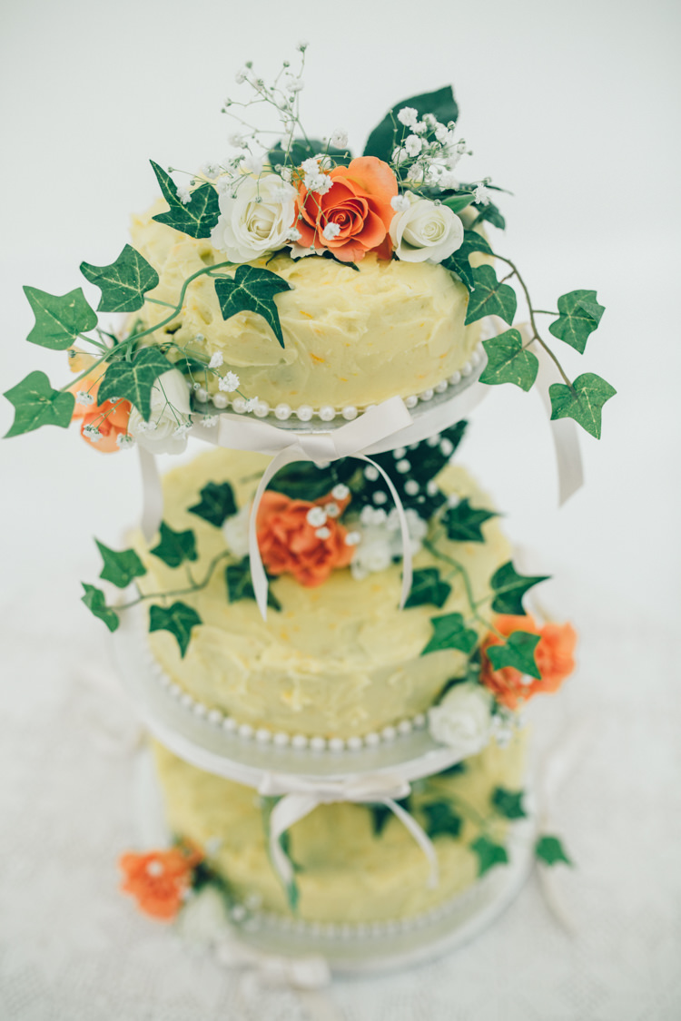 Traditional Cake Teir Flowers Wildflower Village Green Handfasting Wedding http://www.naomijanephotography.com/