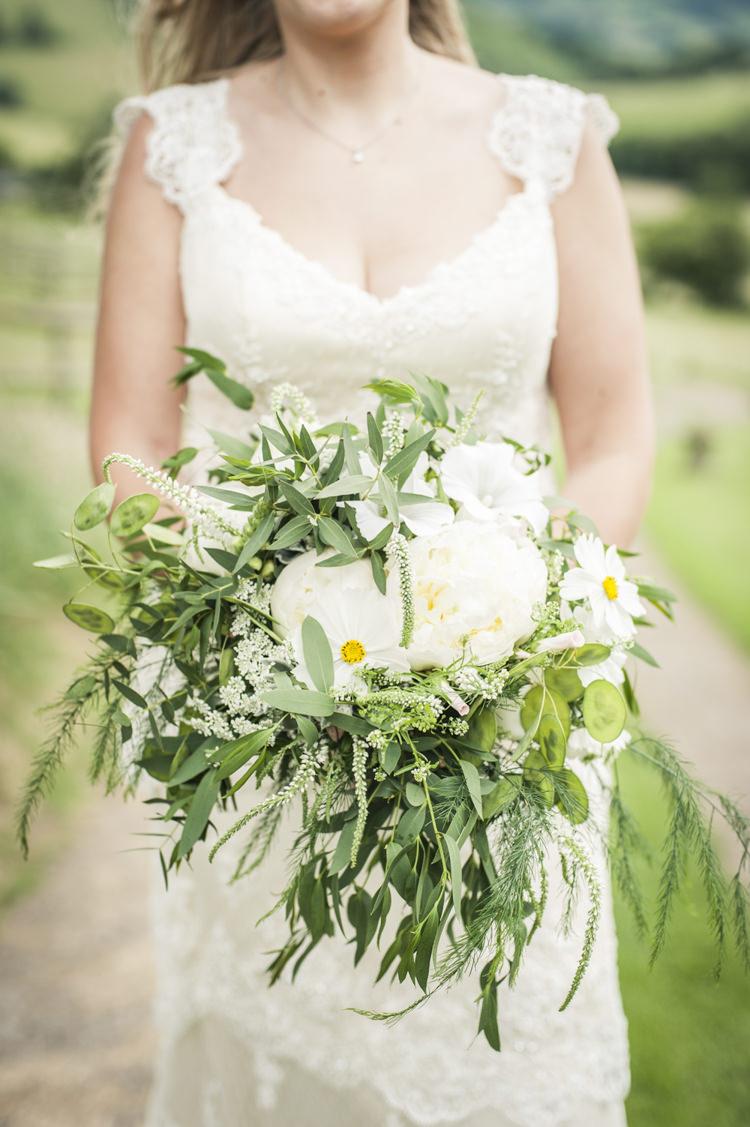 Peony Bouquet Flowers Bride Bridal Greenery Foliage Chilled Country Boho White Green Wedding http://eleanorjaneweddings.co.uk/