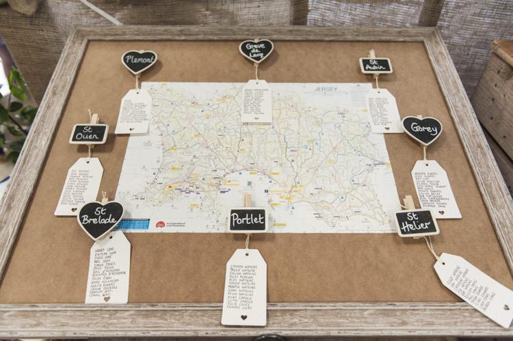 Map Seating Plan Chart Chilled Country Boho White Green Wedding http://eleanorjaneweddings.co.uk/