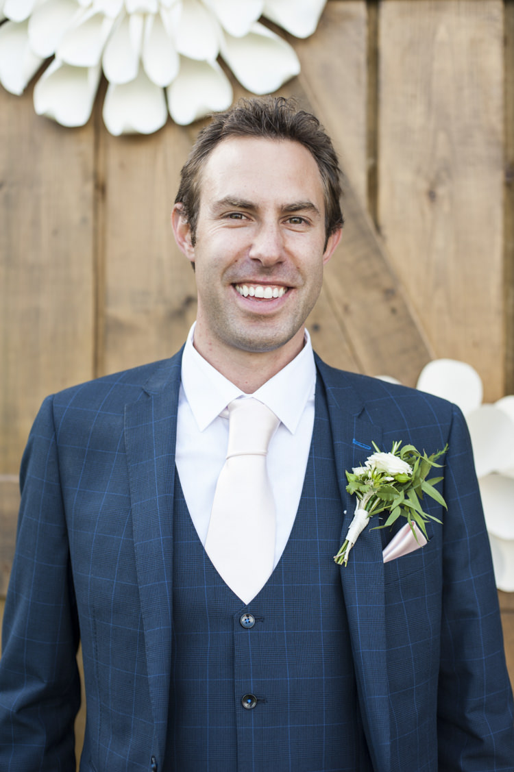 Check Suit Groom Navy Chilled Country Boho White Green Wedding http://eleanorjaneweddings.co.uk/