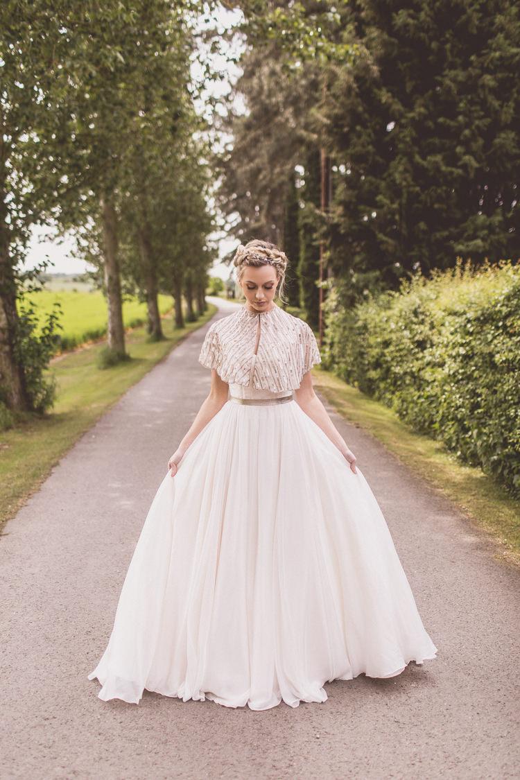 Dress Gown Bride Bridal Rose Quartz Serenity Spring Wedding Ideas https://www.wearetheclarkes.com/
